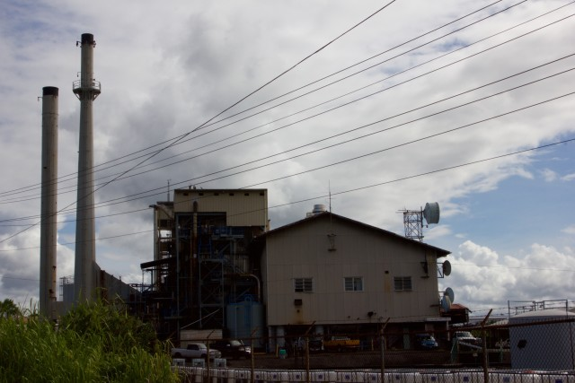 HELCO's Kanoelehua Hill generating station in Hilo, Tuesday.
