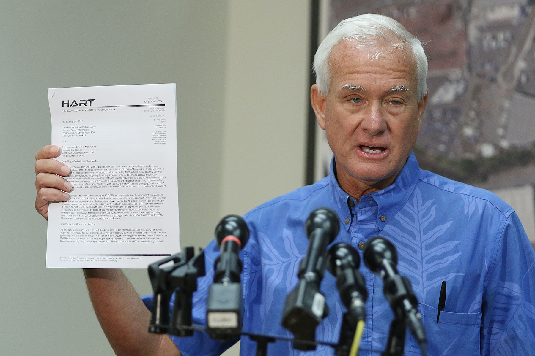 Caldwell Questions Honolulu Rail Projection for Delays ...