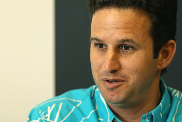 Senator Brian Schatz at Honolulu Civil Beat's editorial meeting.  1 sept 2015. photograph Cory Lum/Civil Beat