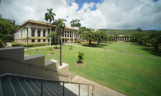 UH Manoa Quad. 2 sept 2015. photograph Cory Lum/Civil Beat