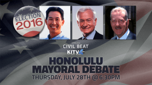 Civil Beat/KITV Mayoral Debate Tonight