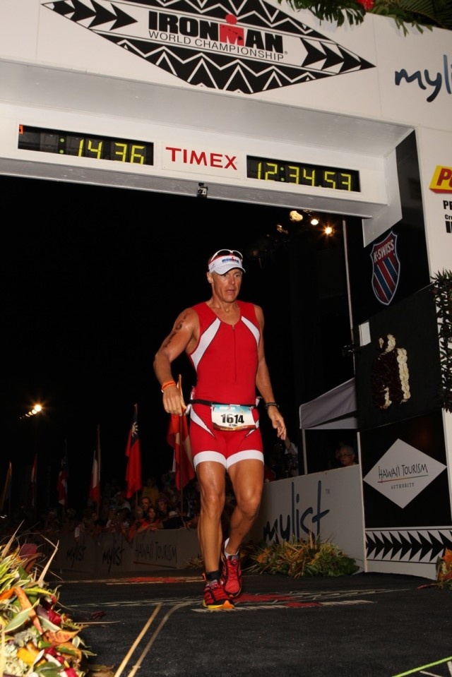 Jeremy Withrow completes Hawaii's Iron Man competition.