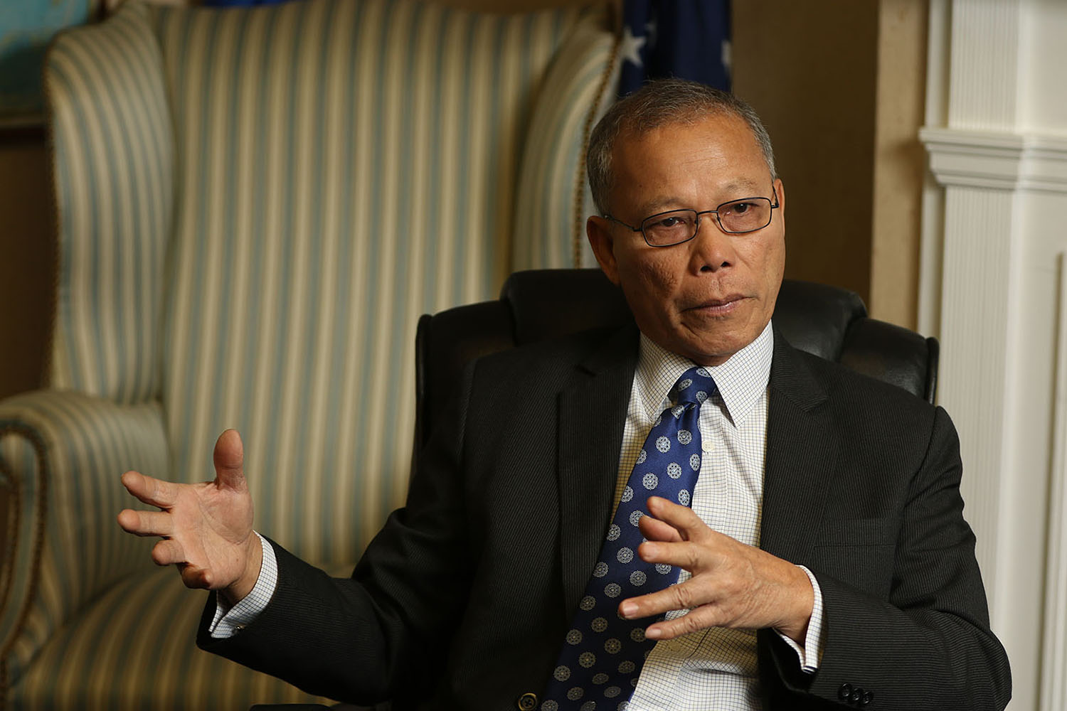 <p>Asterio Takesy, the Federated States of Micronesia ambassador to the United States, in Washington, D.C. Like many Micronesian leaders, he is a graduate of Xavier High School in Chuuk.</p>