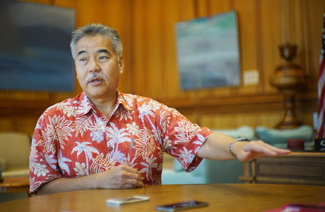 Hawaii Gov. David Ige says taking care of Micronesians is a painful obligation but necessary. Hawaii is spending millions in social services costs on immigrants.