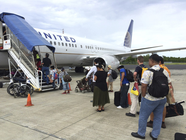 Micronesians only need an airline ticket to legally immigrate to the U.S. But even plane tickets are expensive and United Airlines operates the only direct flights to Hawaii and the mainland, like this one from Chuuk.