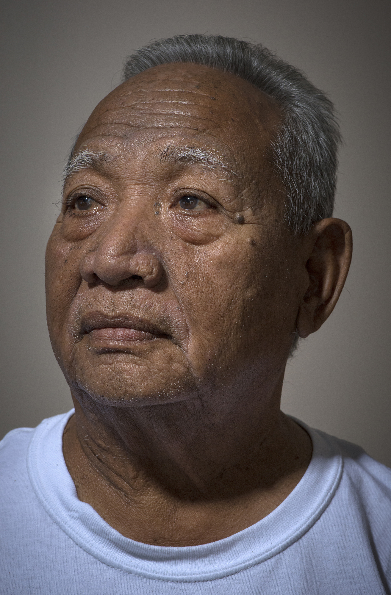 <p>Isao Ekniang, executive Council member of Rongelap, on Majuro, wants to return to his home island. But high radiation levels in the soil prevent him.</p>