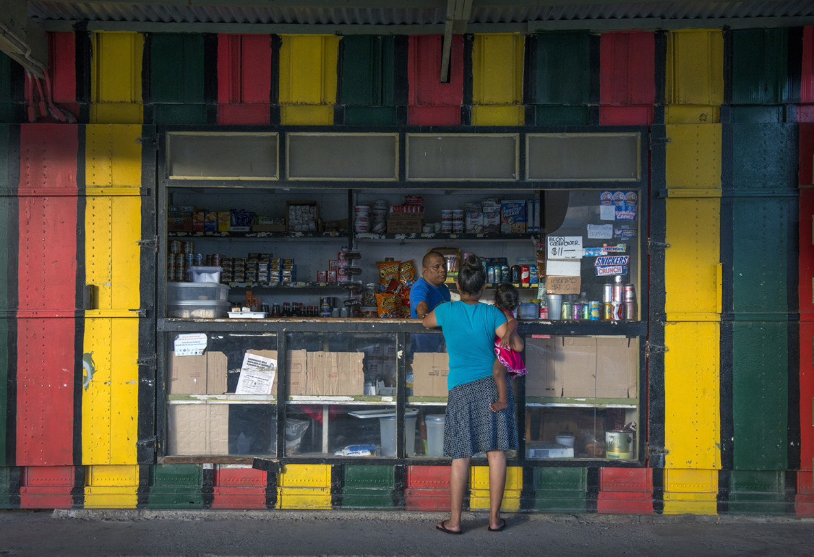 This store in Majuro, the capital of Chuuk, is typical of the small shops that cater to casual customers.