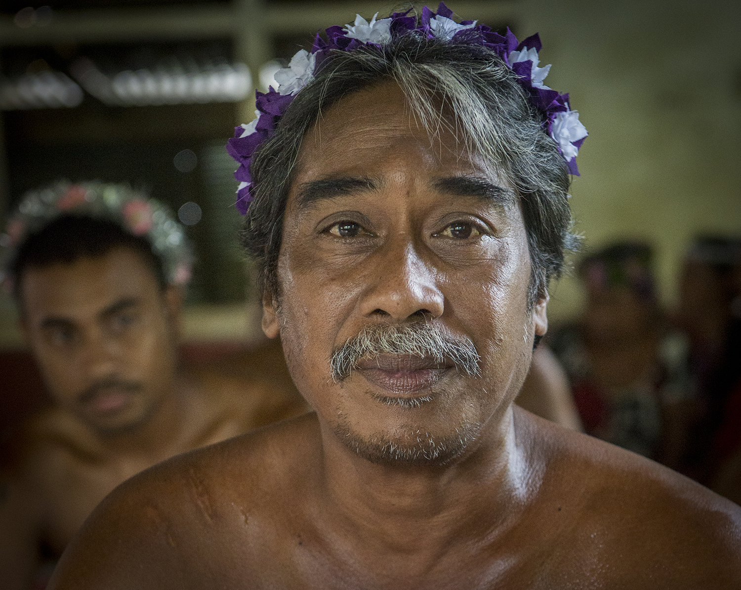 <p>After drinking sakau, there are few worries, as this Pohnpei man shows.</p>