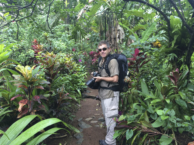 Mark Edward Harris in the Pohnpei jungle.