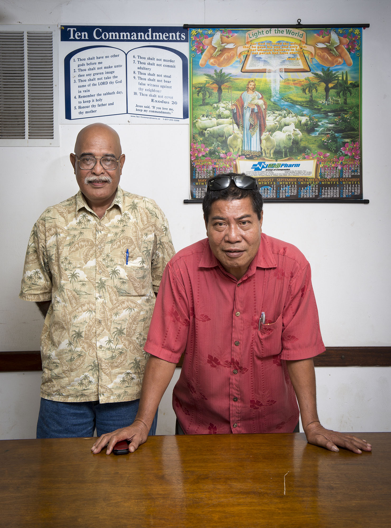 <p>Wilfred Robert, chief of staff for Chuuk&#8217;s governor, and Sisinio Willy, special consultant to the governor for the Office of Development Assistance, are looking to East Asia for development interests.</p>