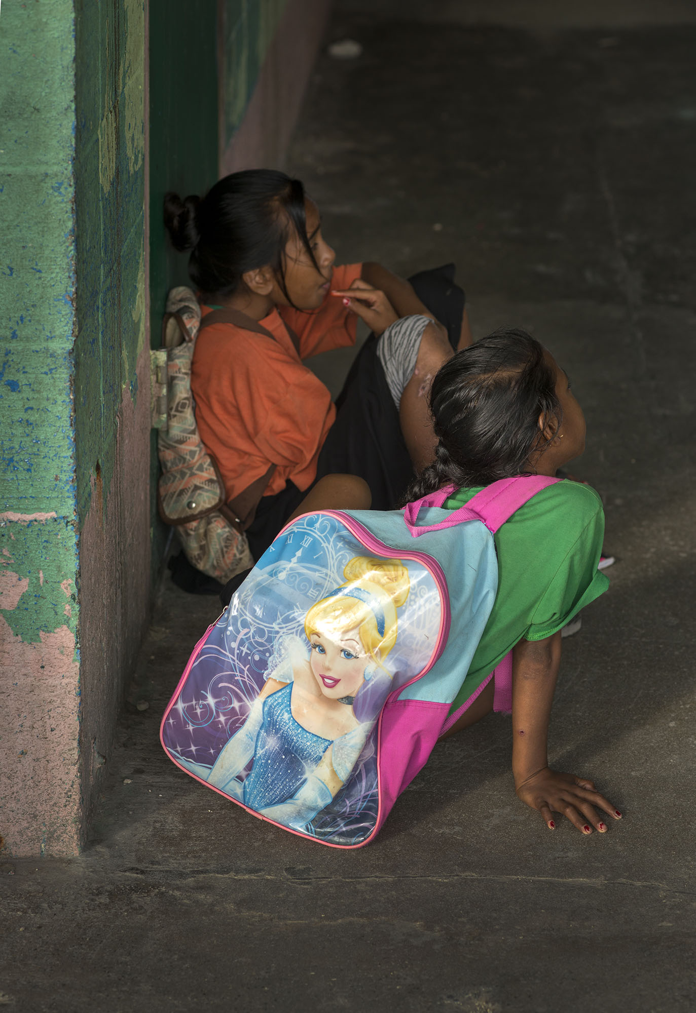 <p>American popular culture is everywhere in Micronesia, like on this backpack.</p>