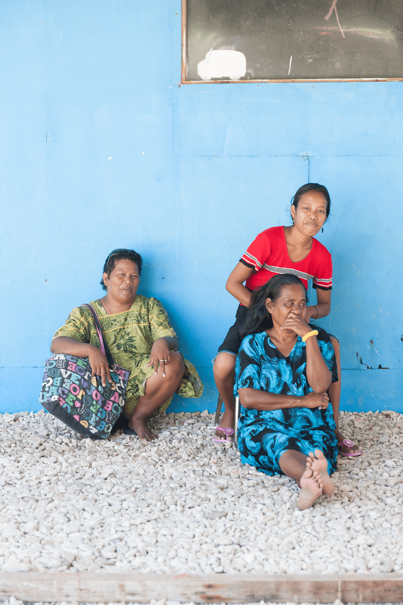 <p>Colorful walls abound on the islands, and long, floral-print dresses are common attire that many Micronesians bring with them when they relocate to the U.S..</p>