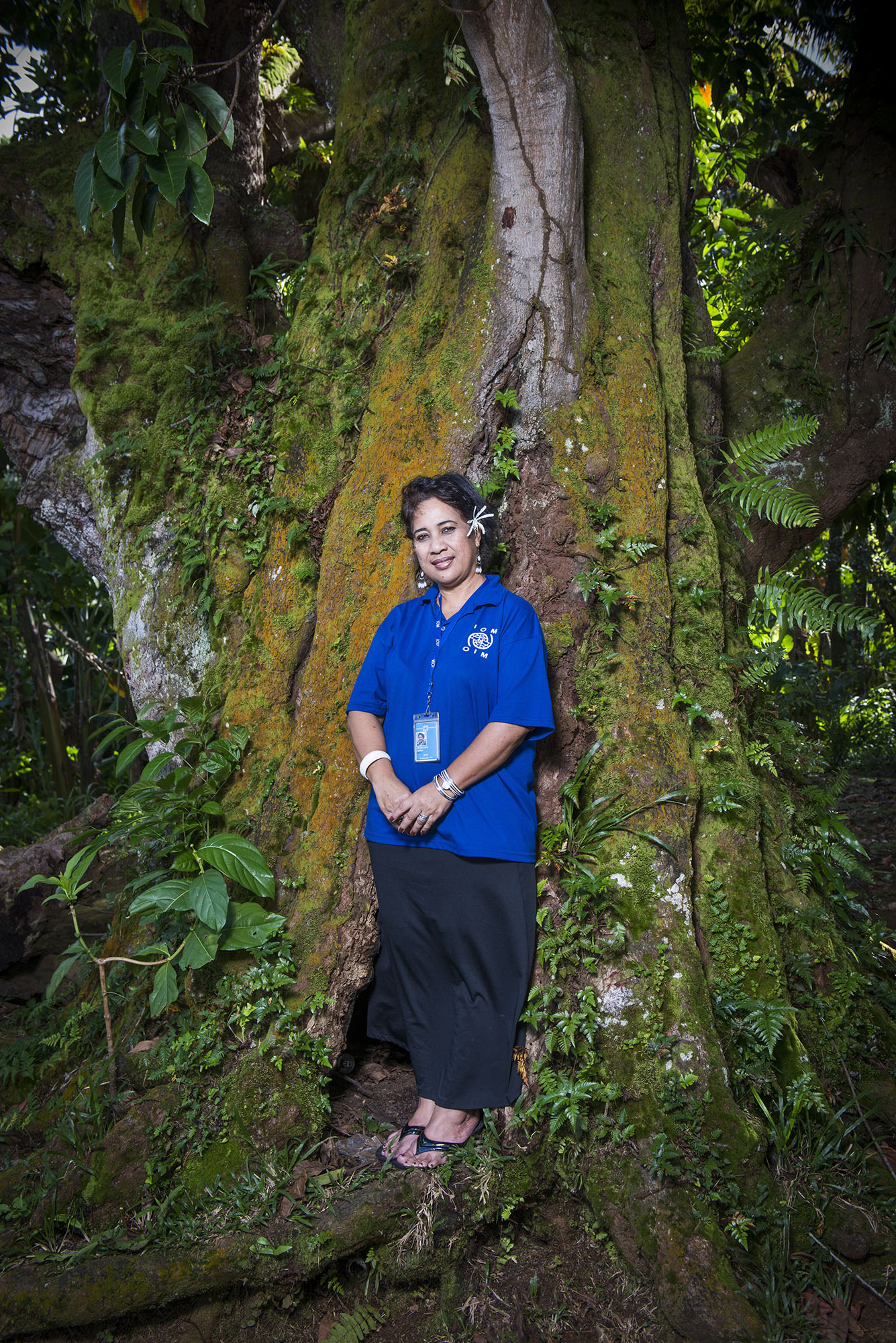 <p>Emeliana Musasrik is the Migrant Resource Center coordinator for Micronesia. The centers help islanders who want to move to the U.S. understand how to navigate in a foreign culture.</p>