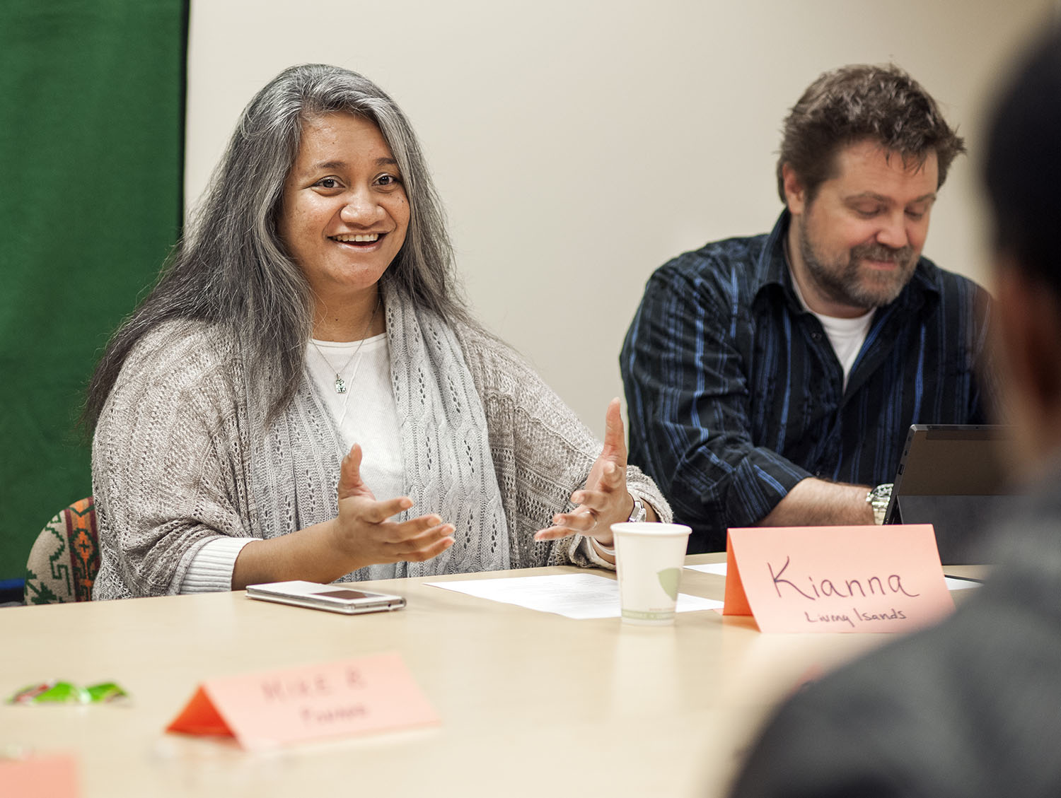 <p>Kianna Angelo, a Marshallese living in Vancouver, Washington, is the executive director and founder of the nonprofit organization Living Islands.</p>