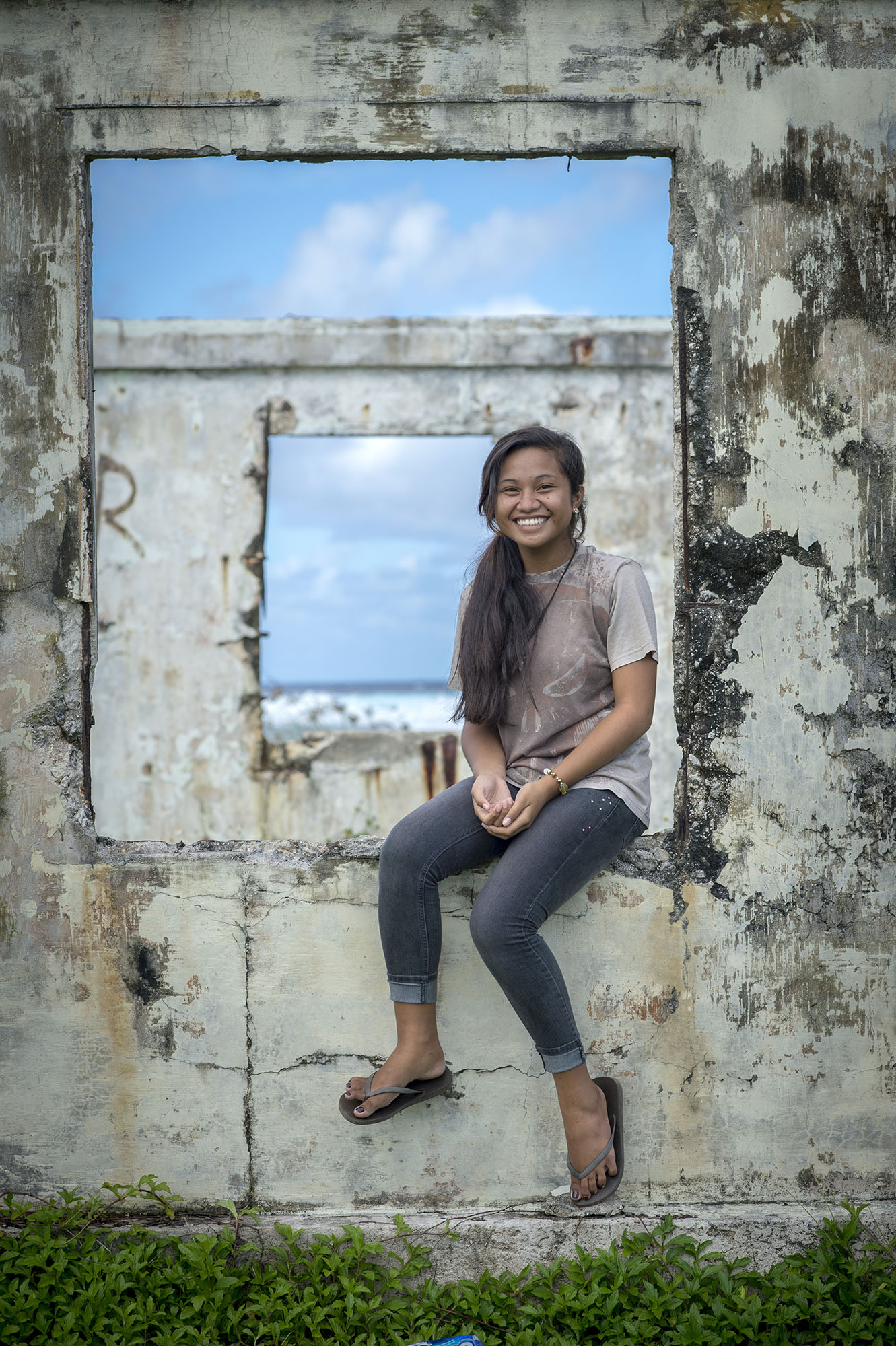 <p>Empty homes and abandoned structures are a familiar sight in much of Micronesia.</p>