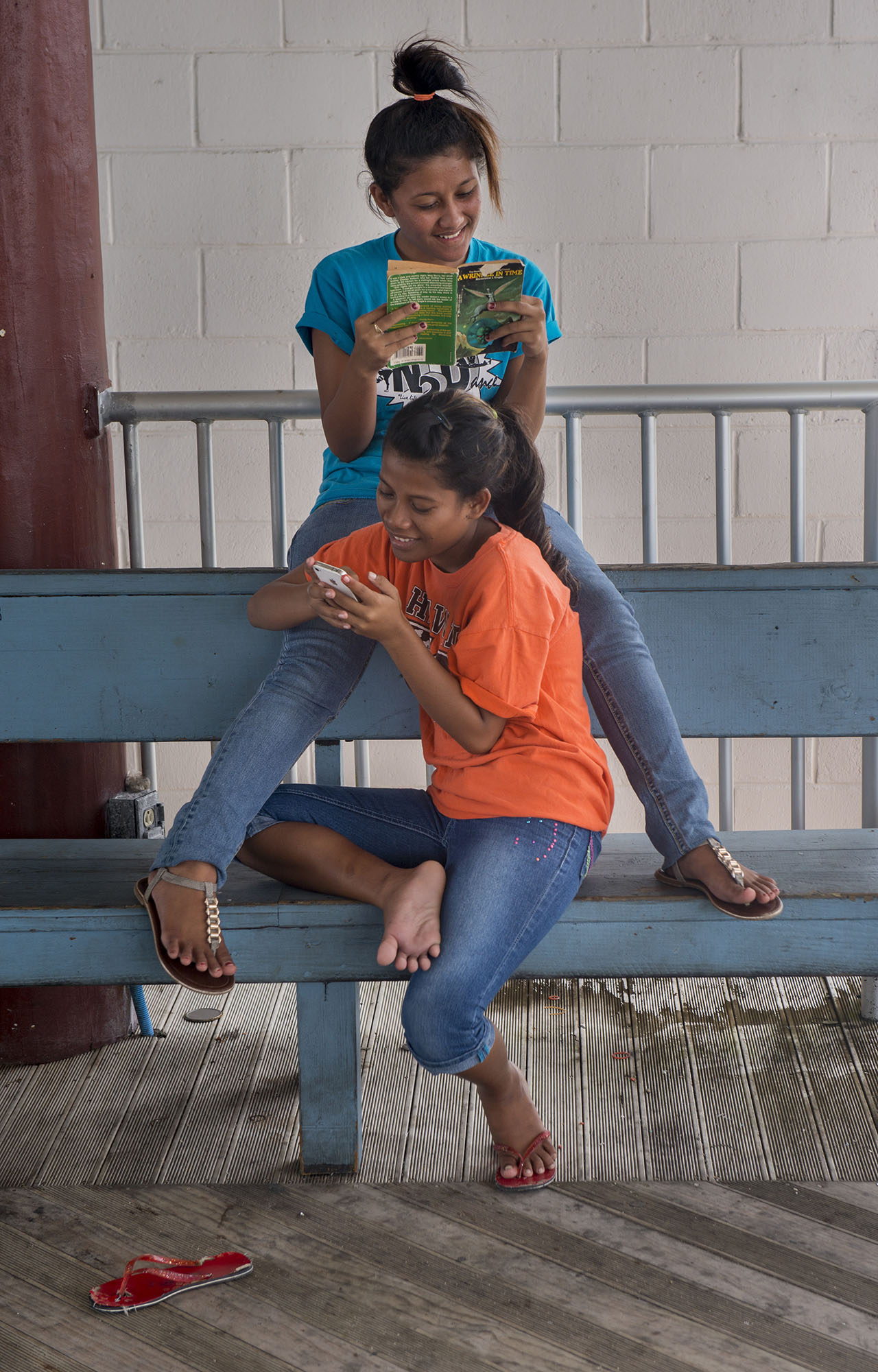 <p>Students at the College of the Marshall Islands on Majuro. There are only a few institutions of higher learning in Micronesia, so many come to the U.S. for college.</p>