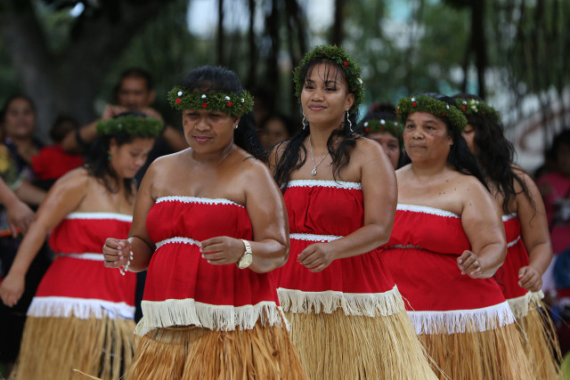 Dancers perform during the Celebrate Micronesia at the Honolulu Museum of Art School in 2015.