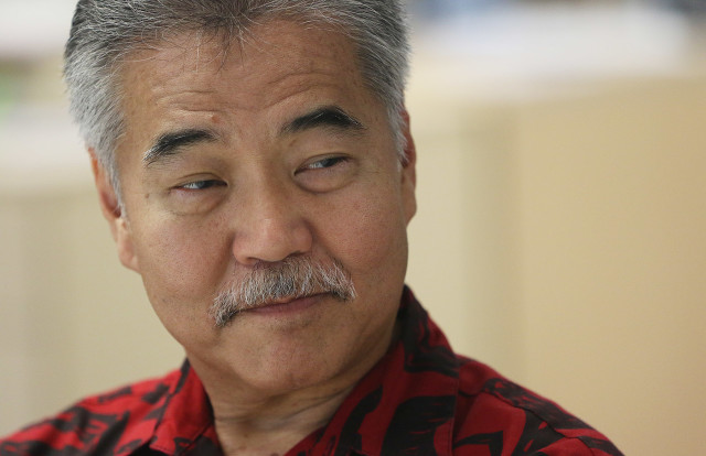 Governor David Ige speaks to Civil Beat Staff. 12 dec 2015. photograph Cory Lum/Civil Beat