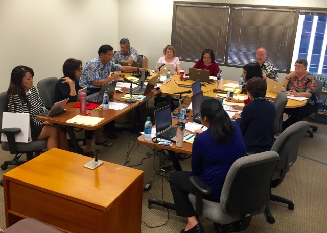 The Hawaii State Ethics Commission at its Dec. 2 meeting downtown.