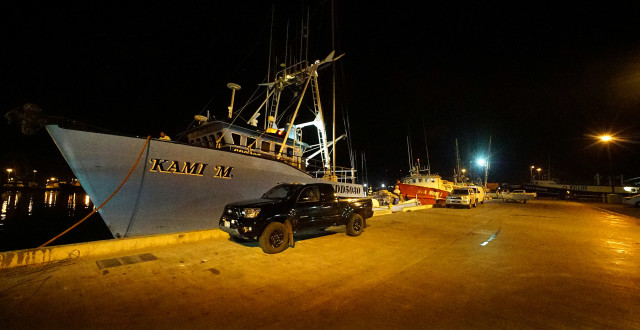 Fishing boat dock side of Pier 38 next to the Honolulu Fish Auction. 14 dec 2015. photograph Cory Lum/Civil Beat