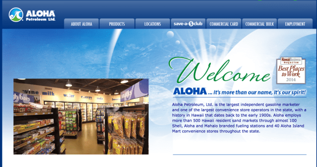 Aloha Petroleum Website
