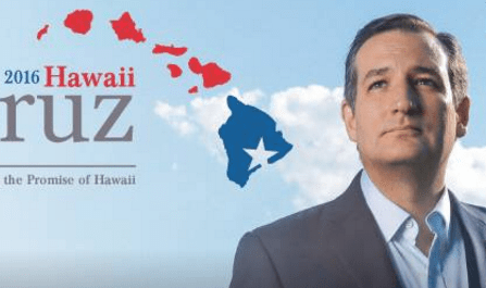 Ted Cruz campaign website for Hawaii