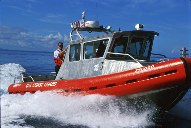 The U.S. Coast Guard'sU.S. Coast Guard helped search for Tyler's body. This is one of their Secure All-around Flotation Equipped (SAFE) vessels.