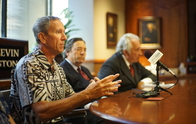 Blake Conant from Kauai shares how his late brother, Christopher Conant, was allegedly sexually assaulted as a child by Dr. Robert Browne, Kamehameha Schools' staff psychiatrist, while Christopher was a middle school student at the school's Honolulu campus. Conant is one of 26 plaintiffs named Tuesday in a lawsuit against the school.