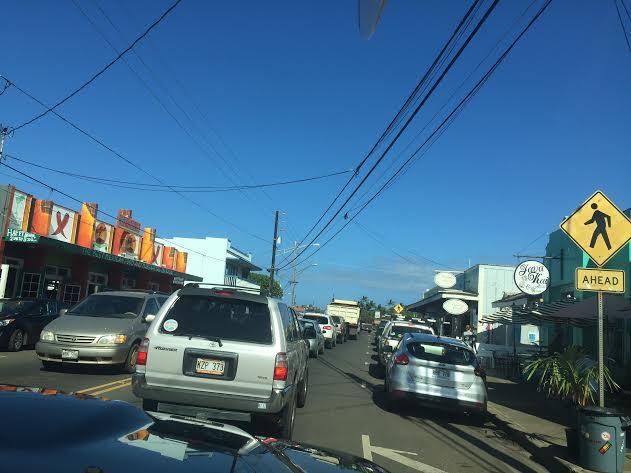 Traffic on Kauai