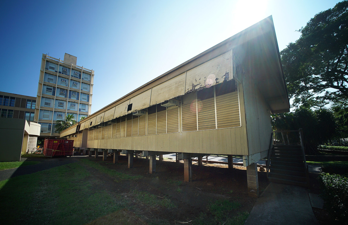 University of Hawaii at Manoa Krauss Annex weathered wood