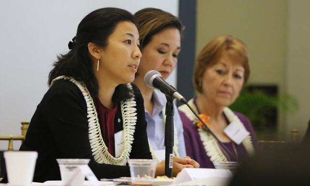 Rep. Linda Ichiyama and Sens. Jill Tokuda and Roz Baker.
