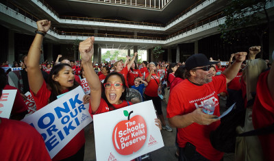 Governor's Political Fortunes May Rise With New Teachers' Contract