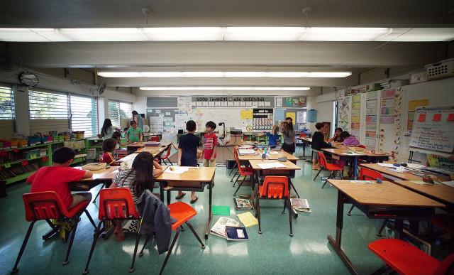 Waialae Elementary school Hawaii Honolulu education. 1 feb 2016. photograph Cory Lum/Civil Beat
