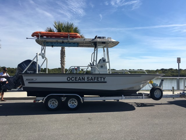 The Hawaii Community Development Authority purchased a Boston Whaler from Florida with custom-made specifications to boost ocean safety at Kewalo Basin.