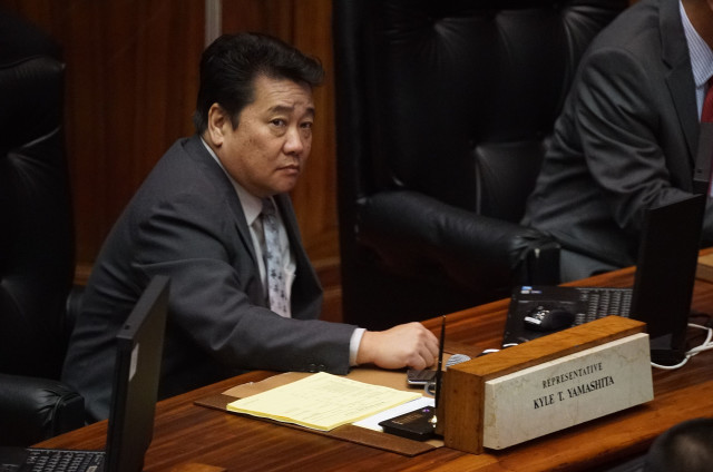 Rep Kyle Yamashita during session. 25 april 2016.