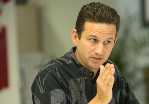 Schatz Enjoys A Comfortable Perch On Capitol Hill
