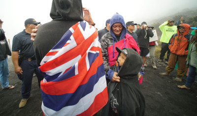 DLNR DOCARE Dept Land and Natural Resources Mauna Kea Hawaii arrest kid looks. 24 june 2015