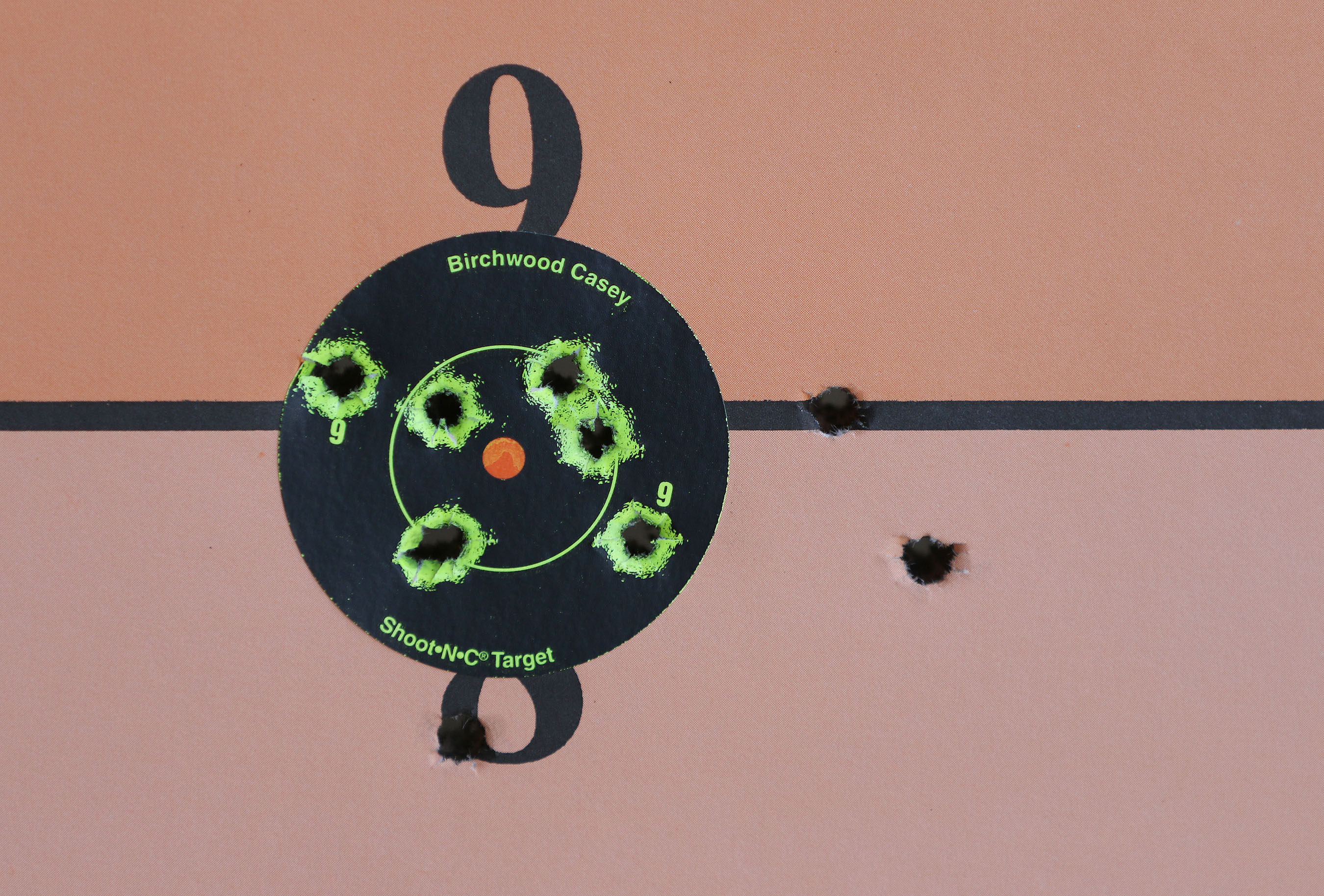 <p>A target bore evidence of some accurate shooting.</p>