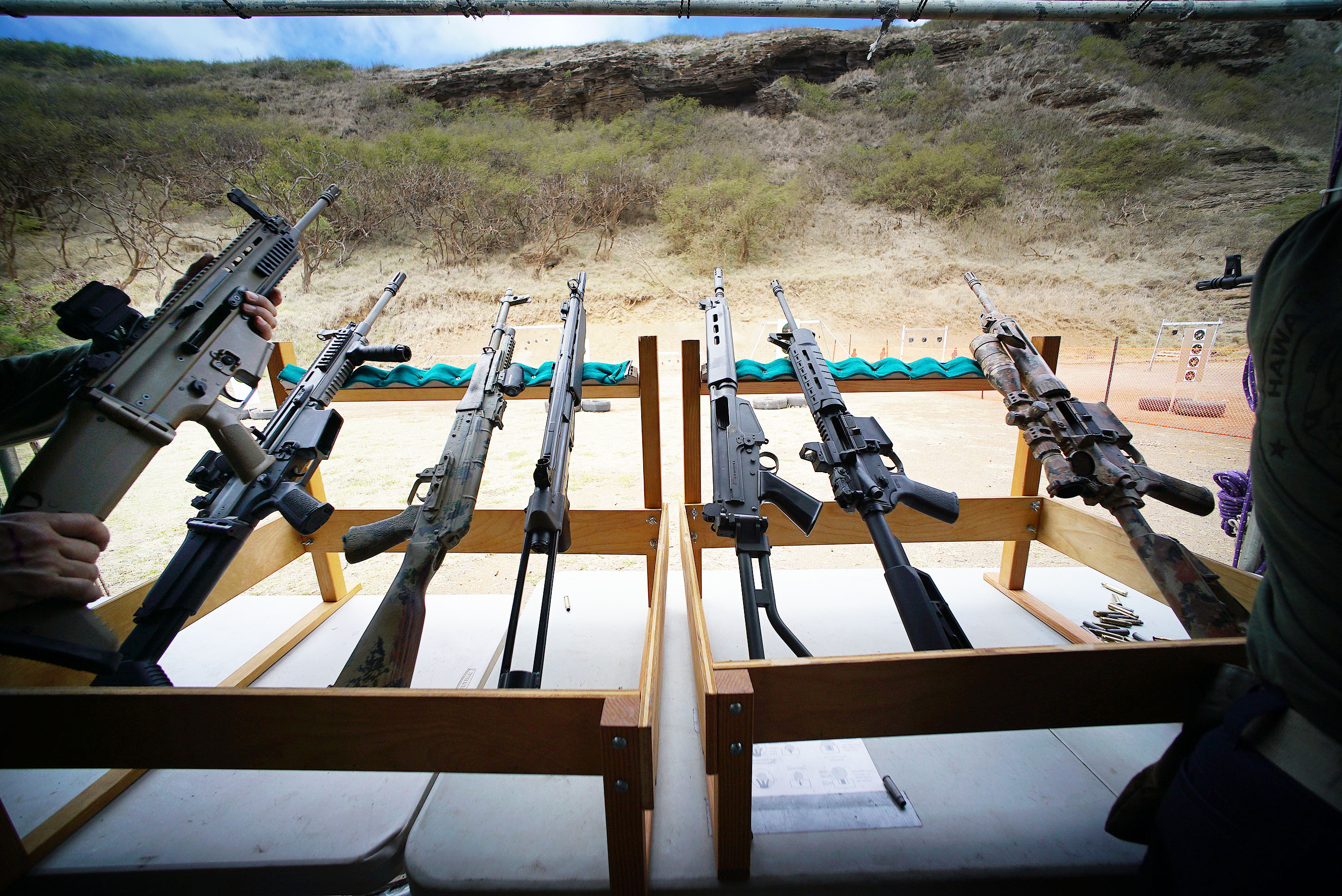 <p>An array of rifles awaited visitors to theHawaii Rifle Association&#8217;s 23rd annual Shooting Sports Fair at the Koko Head Shooting Complexlast weekend.</p>