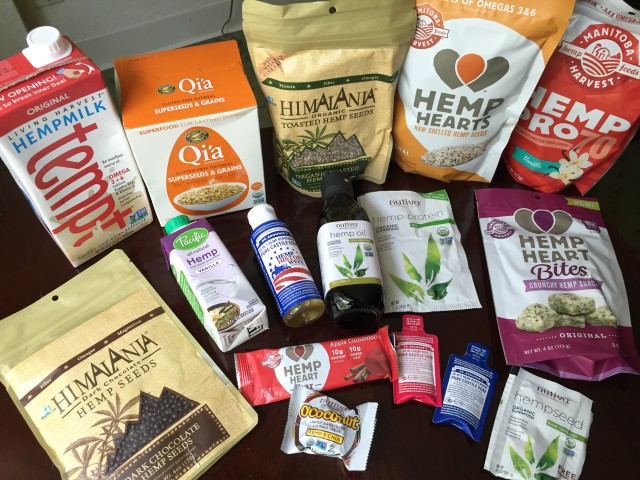 Products made from hemp include soap, milk, seeds to snacks.