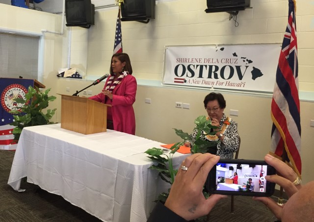 Shirlene Ostrov seeks to follow in the footsteps of Pat Saiki, who served in Congress for two terms.