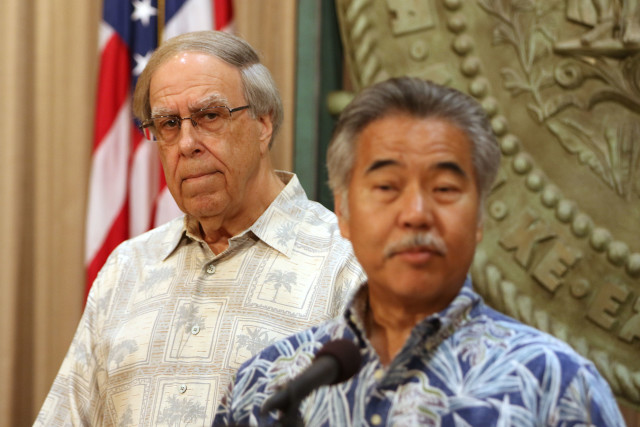 Governor David Ige announces his appointment to the Public Utility Commission, Thomas Gorak. 29 june 2016