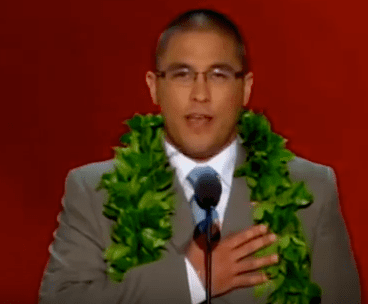 Dylan Nonaka leads the Pledge of Allegiance at the 2012 Republican National Convention.