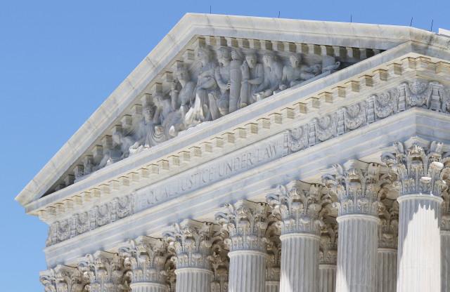 Supreme Court Building Washington DC Equal Justice Under Law. 9 june 2016