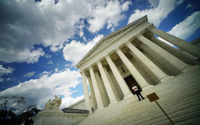 Supreme Court Building Washington DC angle. 6 june 2016.