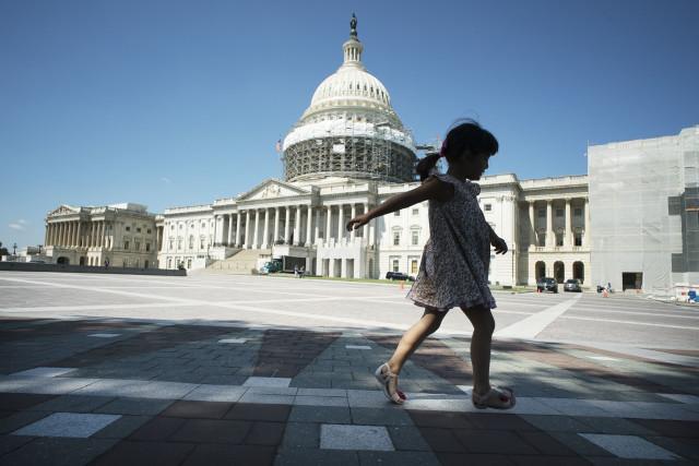 US Capitol building Congress Senate silhouette washington DC. 7 june 2016