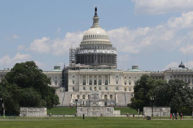 US Capitol building west side summer. 12 june 2016