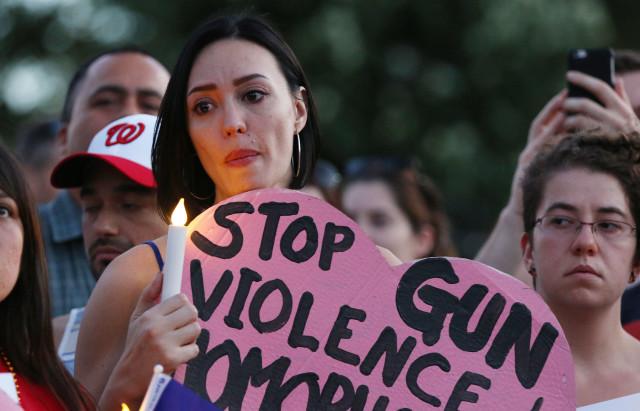 White House Washington DC Orlando shooting demonstration stop gun violence. 13 june 2016