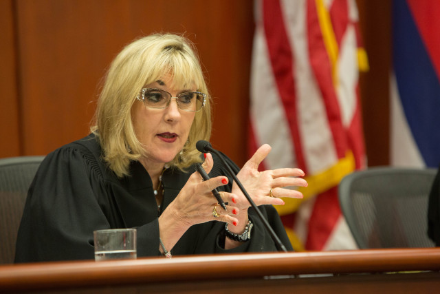Judge Consuelo Callahan asked many questions during Wednesday's oral arguments.