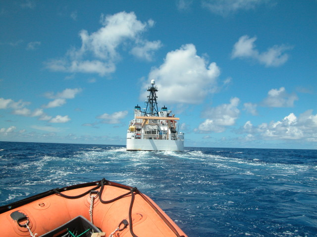 The NOAA Research Vessel Hiialakai conducting work in Papahanaumokuakea Marine National Monument.